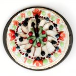 Healthy Fruit Pizza Dessert Clock
