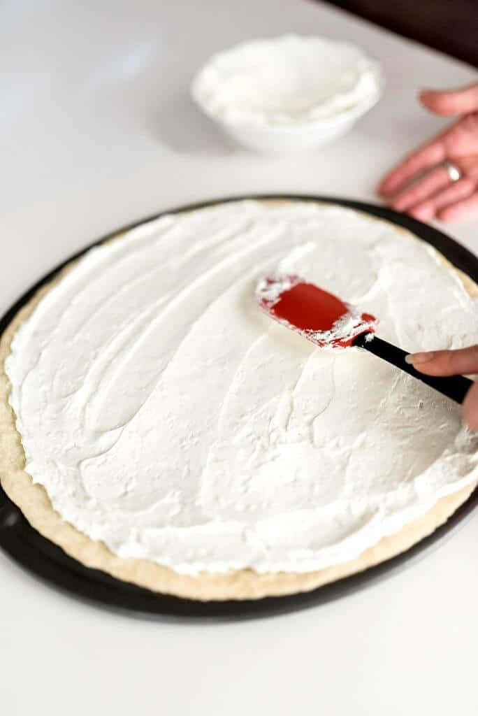 Cream cheese frosting for fruit pizza