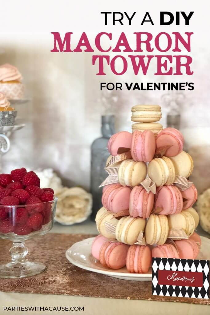 DIY Macaron Tower for Valentine's Day