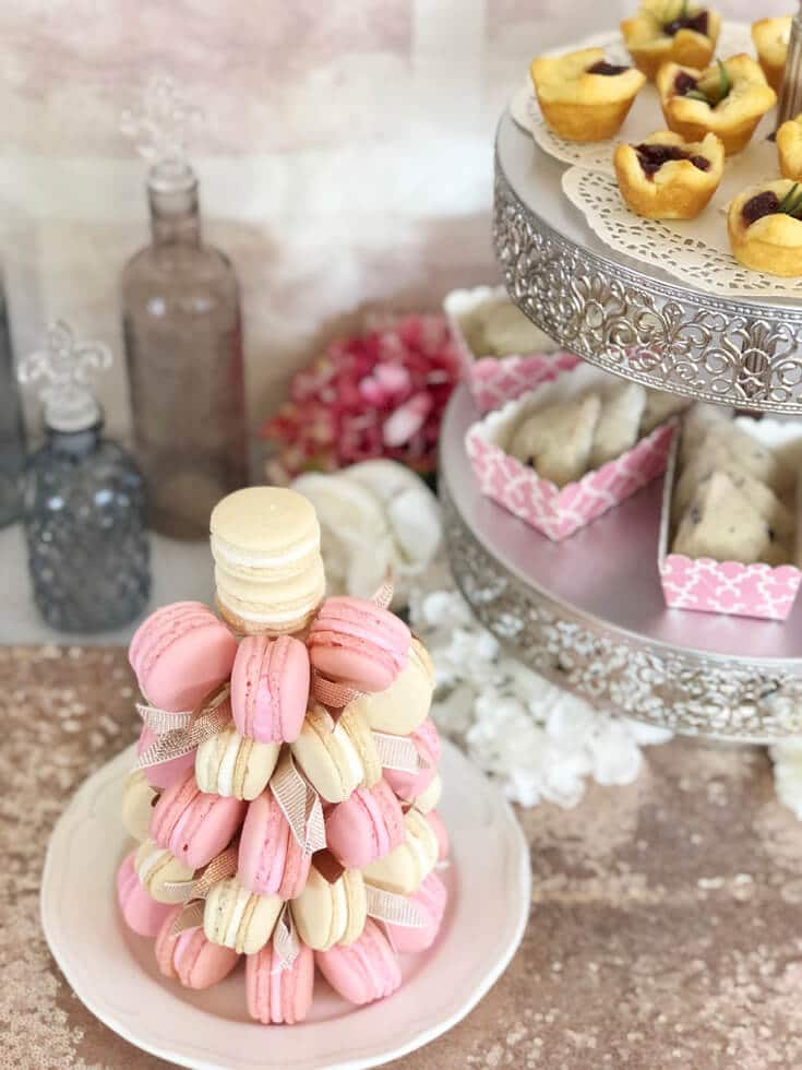 Macaron tower for dessert table by Salt Lake Party stylist Parties With A Cause