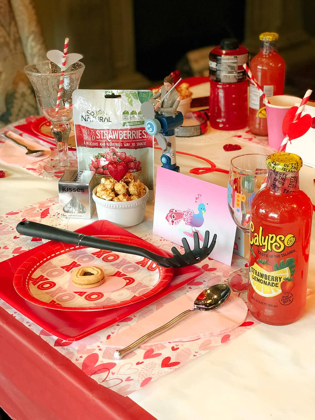 Valentine Table Set for Family Dinner by Salt Lake Party Stylist