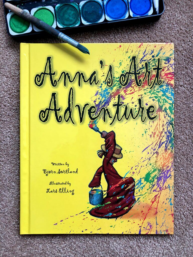 Anna's Art Adventure book by Salt Lake Party Stylist Parties With A Cause