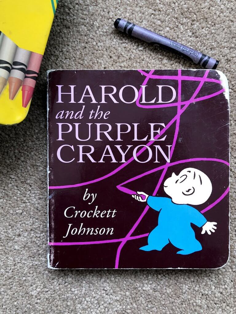 Sketch and explore with Harold. Art Books for kids