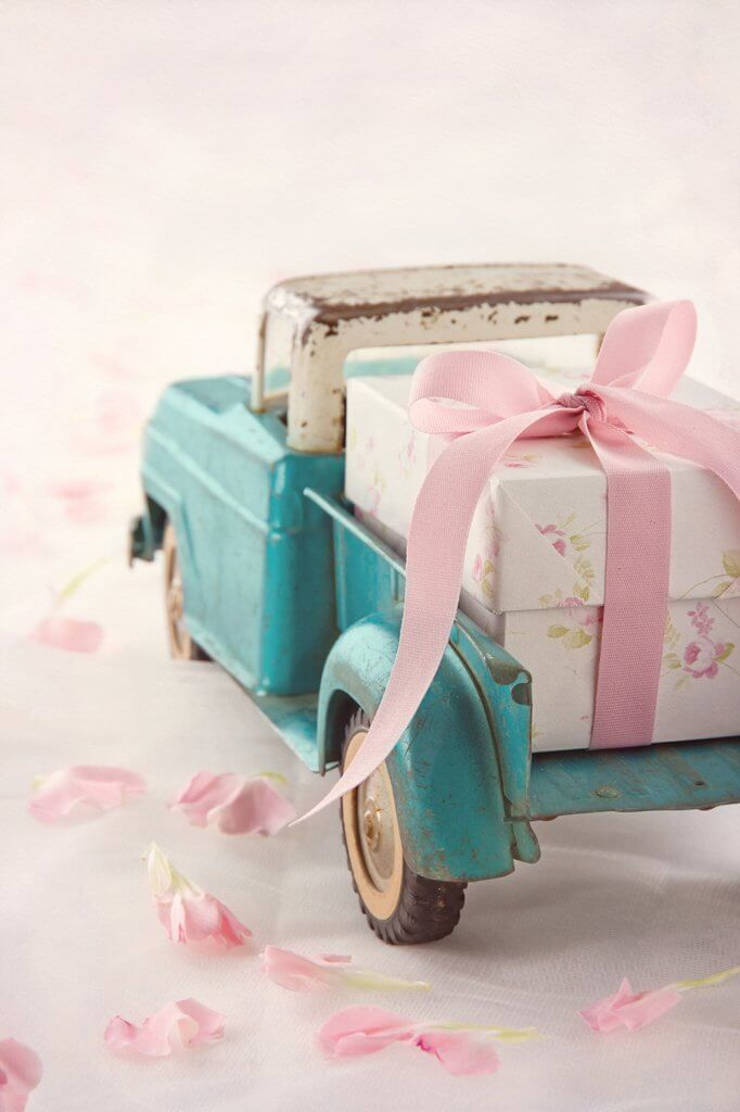 Antique toy truck with gift great way for personalized gifting