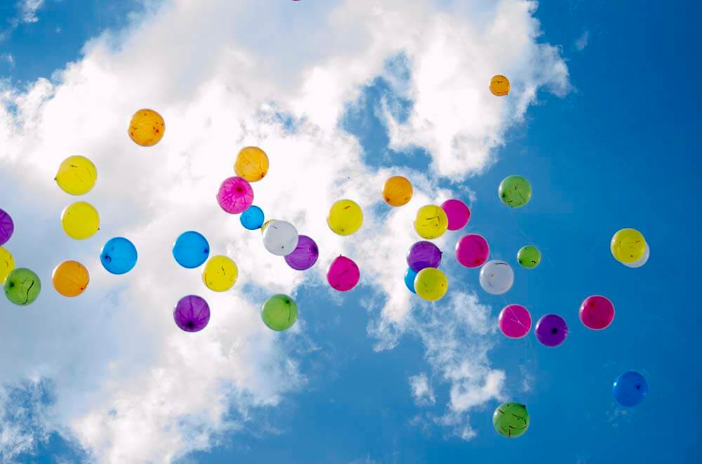 Balloon releases are not so eco friendly