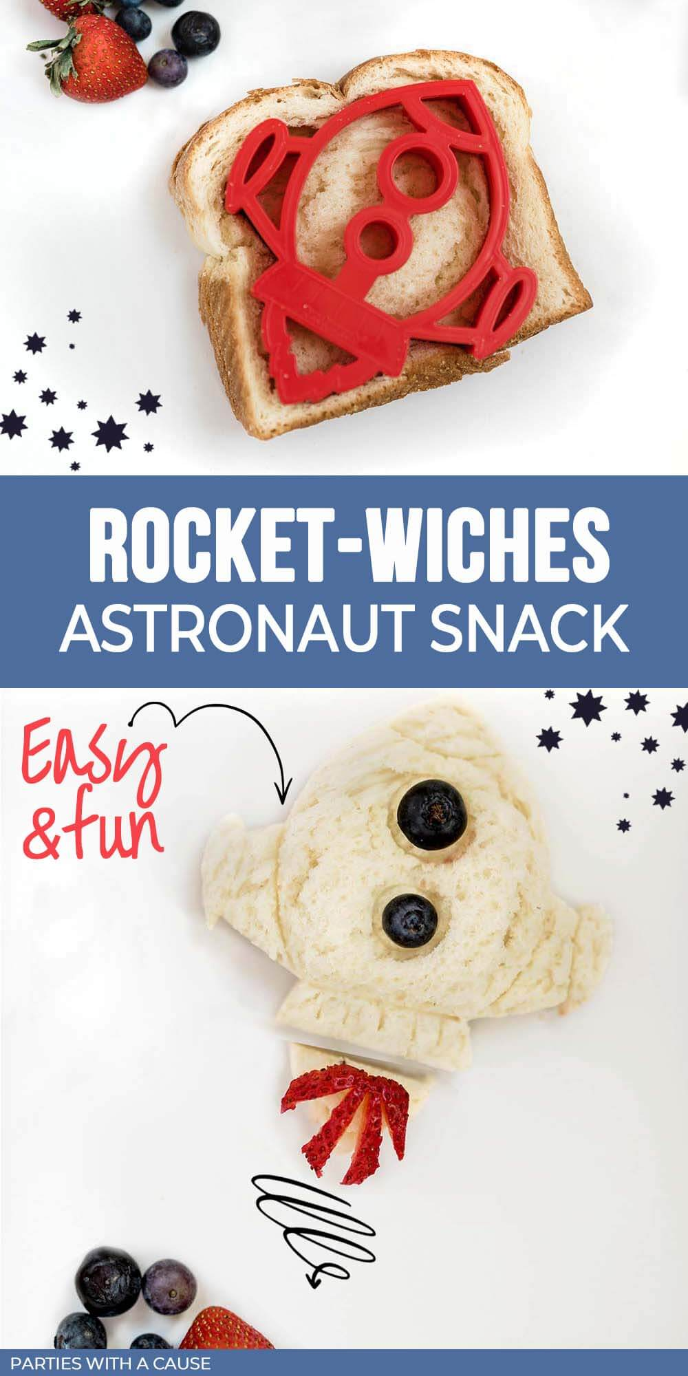 Rocket-wiches astronaut party snack by Salt Lake party stylist