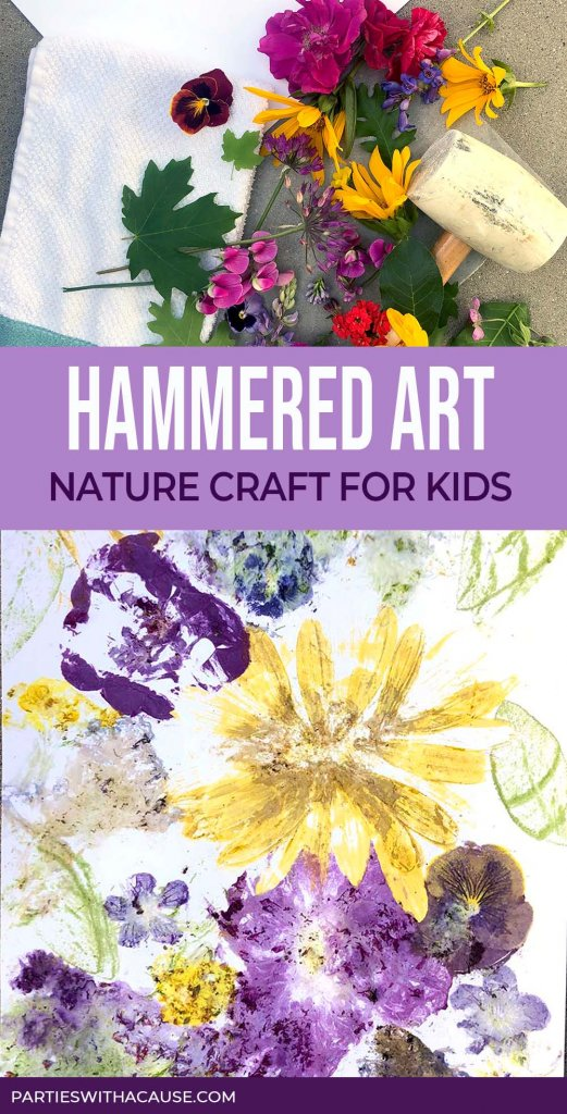 Hammered flower art print Salt Lake party stylist