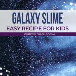 Galaxy slime recipe for kids - Salt Lake party stylist