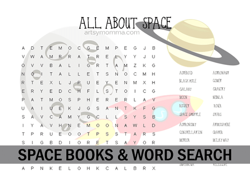 Space word search printable