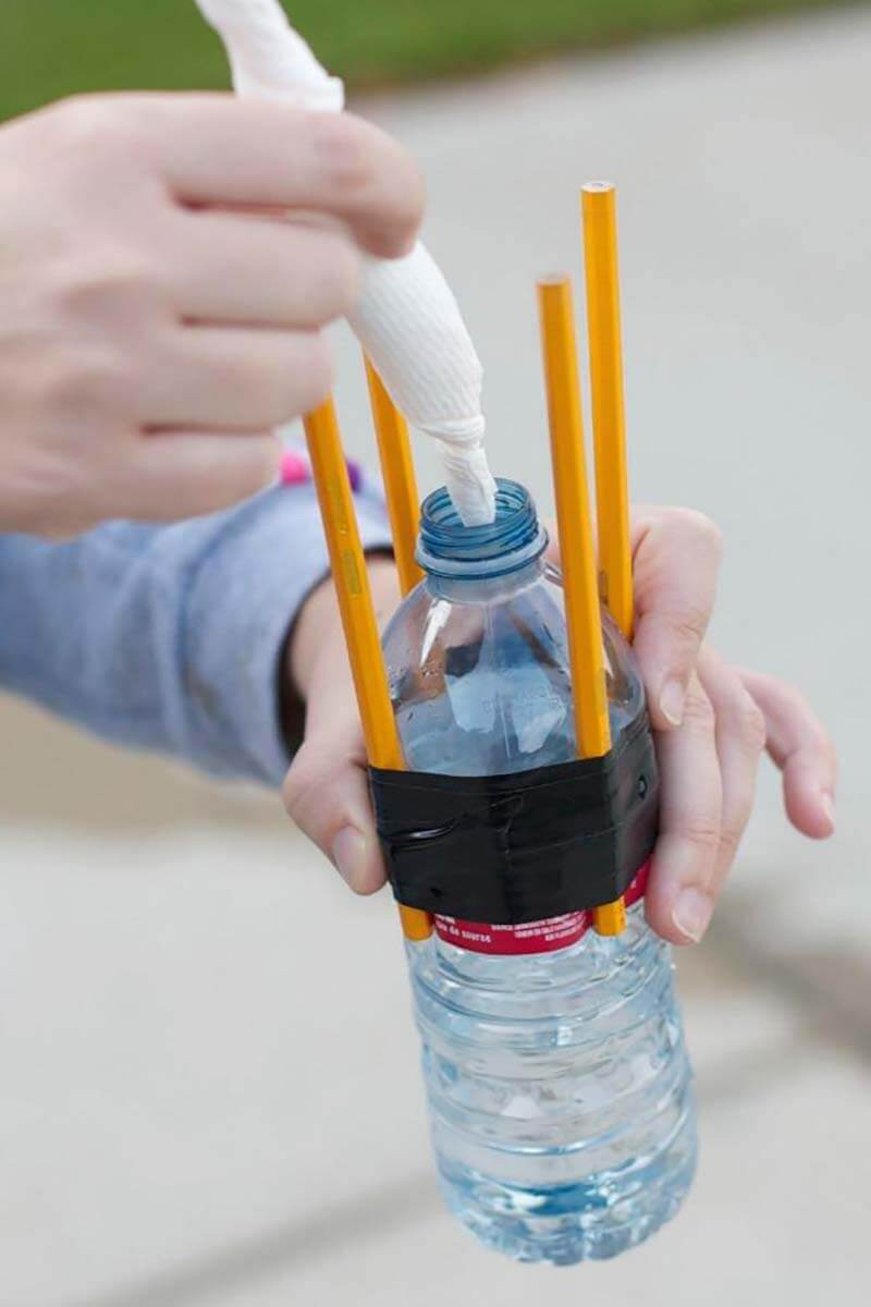 Homemade bottle rocket