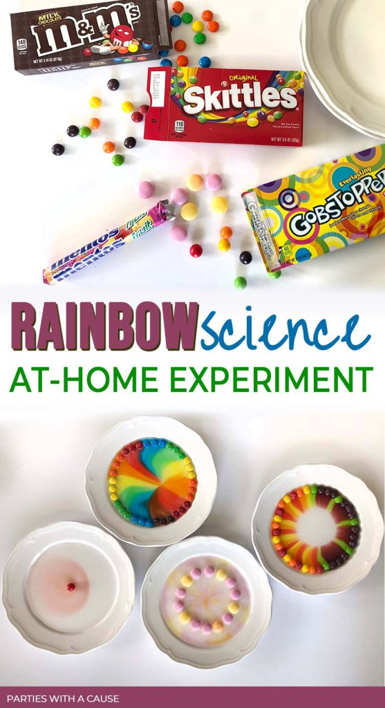 Skittles Rainbow Experiment edible science by Salt Lake party stylist