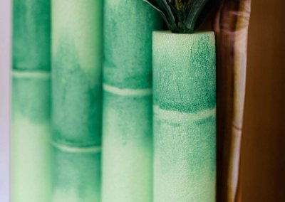 DIY Bamboo Party Decor With Pool Noodles