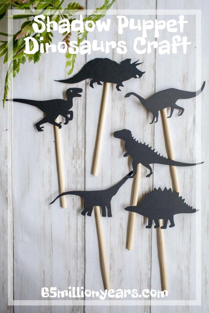 Dinosaur shadow puppets for kids play