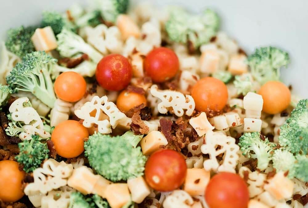 Dinosaur Pasta Salad For Kids