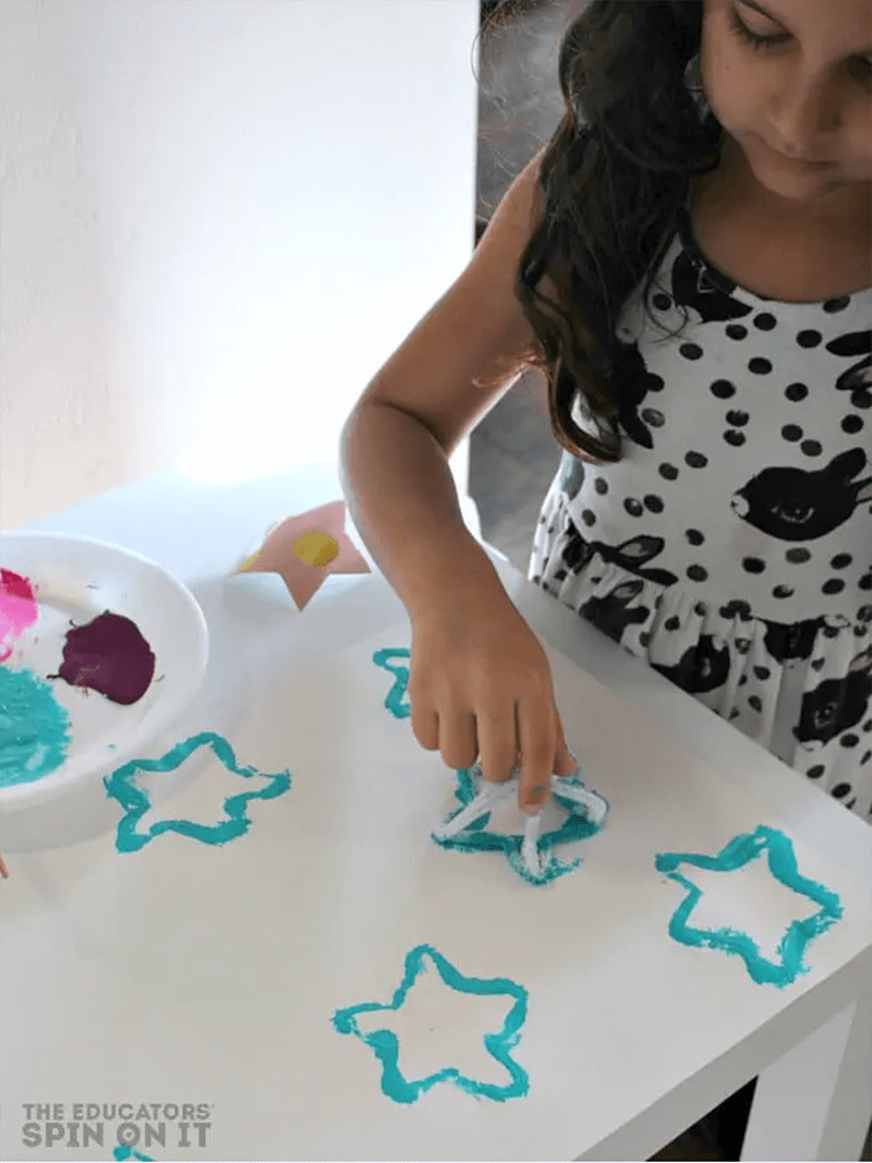 Homemade Star Stamps for Kids