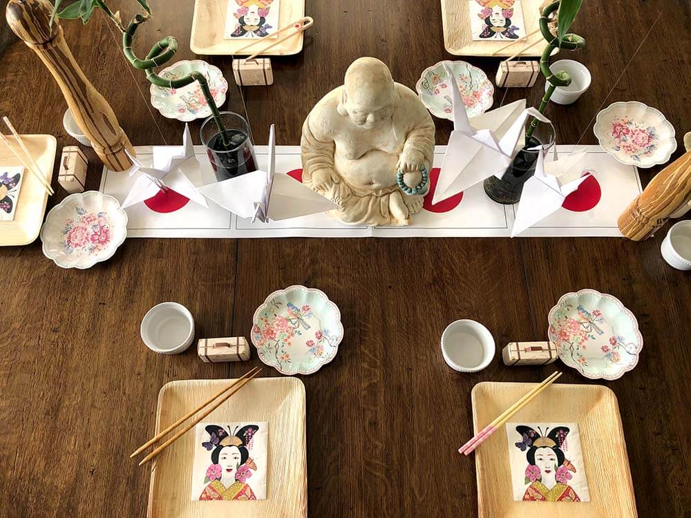 Japanese themed table Japan fun for kids
