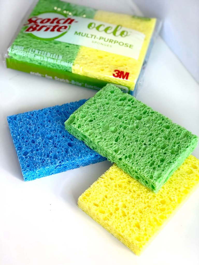 Colorful sponges make great water bombs