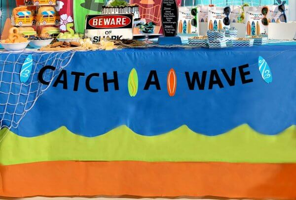 Catch a Wave Banner for Surf Party