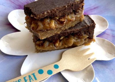 Homemade Snickers Healthy Candy Bar