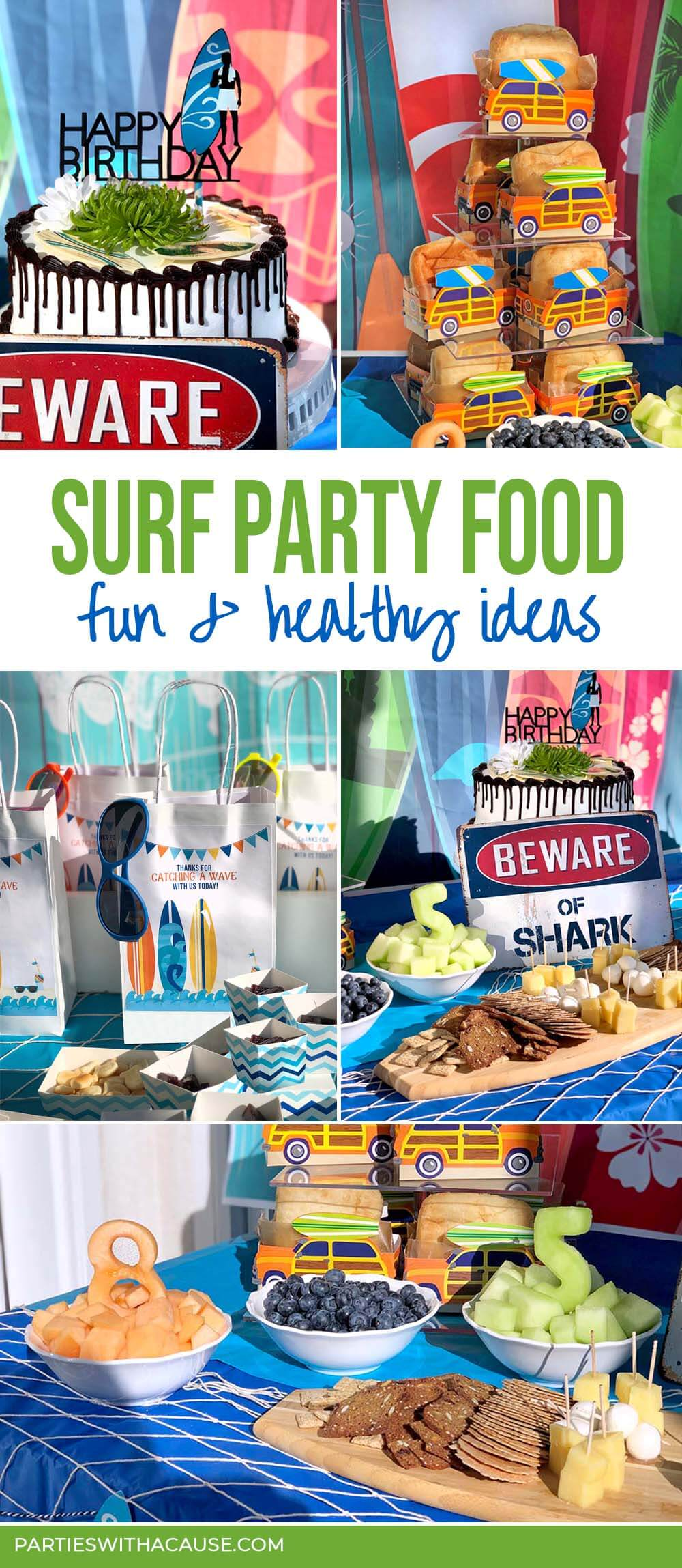 Surf party food ideas by Salt Lake Party Stylist
