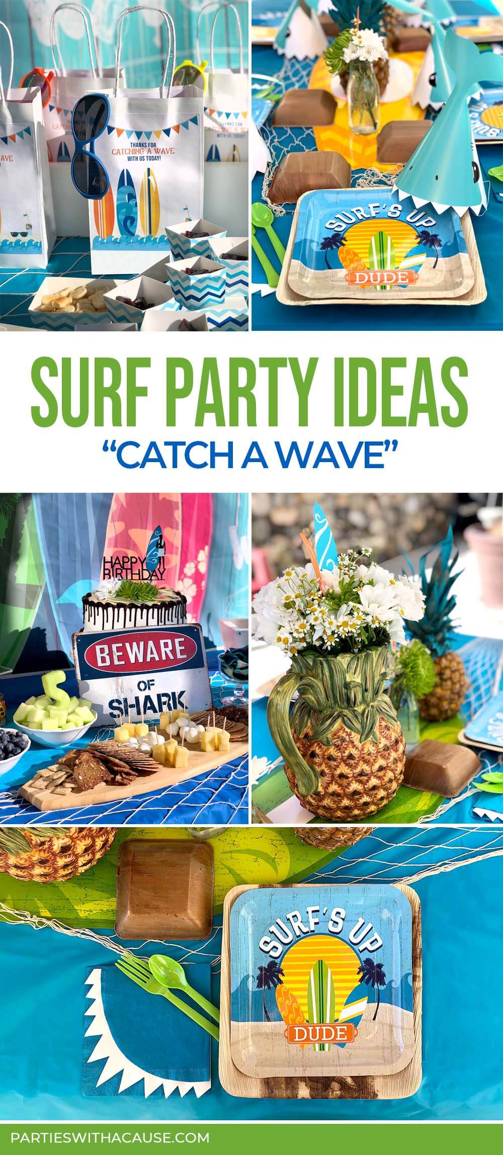 Surf party ideas to catch a wave by Salt Lake Party Stylist