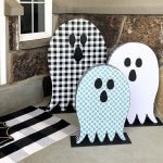 Dollar Store Halloween Decor Porch Ghosts