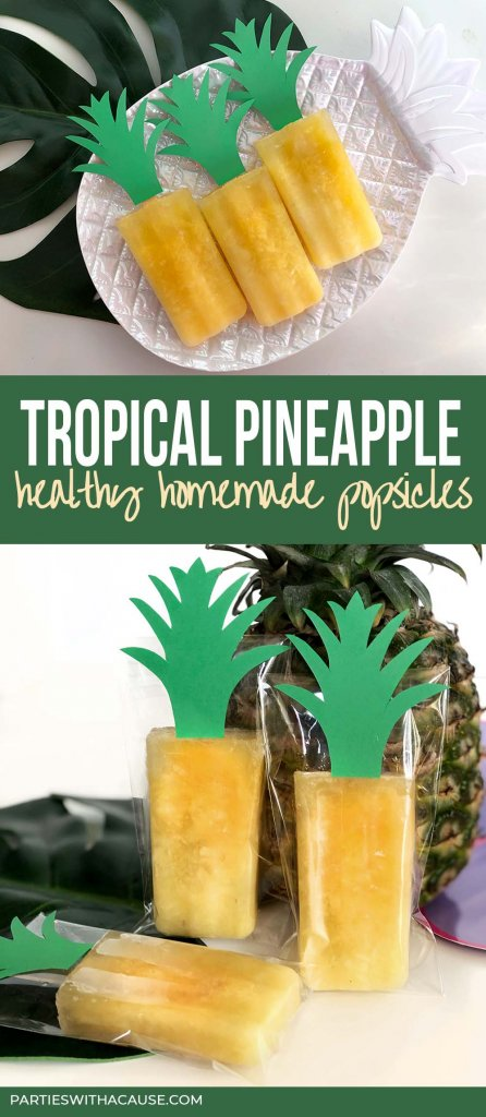 Tropical pineapple healthy homemade popsicles
