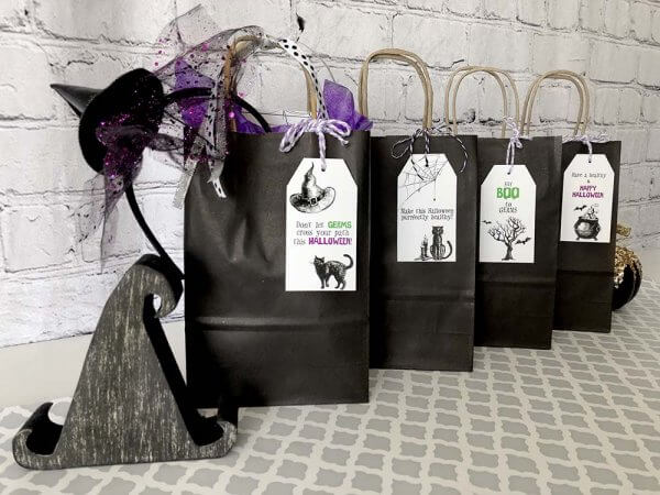 Boo Game Halloween gift bags for neighbors