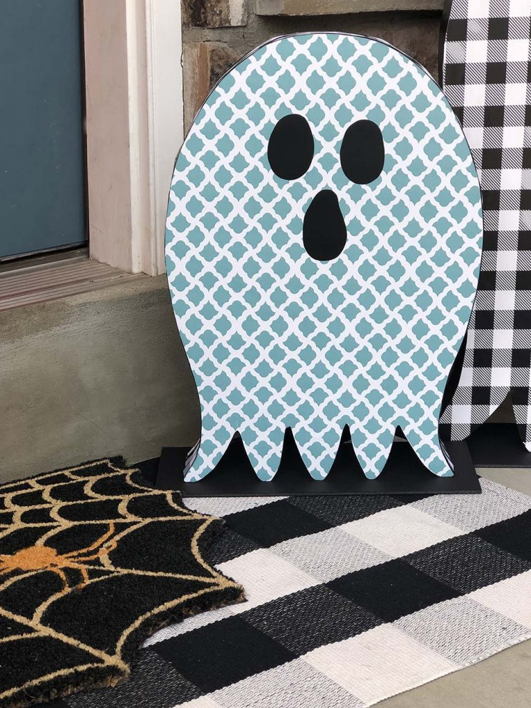 Dollar Store Halloween Decor Porch Ghosts by Salt Lake Party Stylist