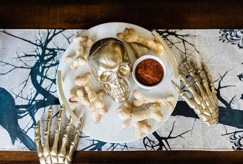 Finger Food for Halloween Bone Breadsticks