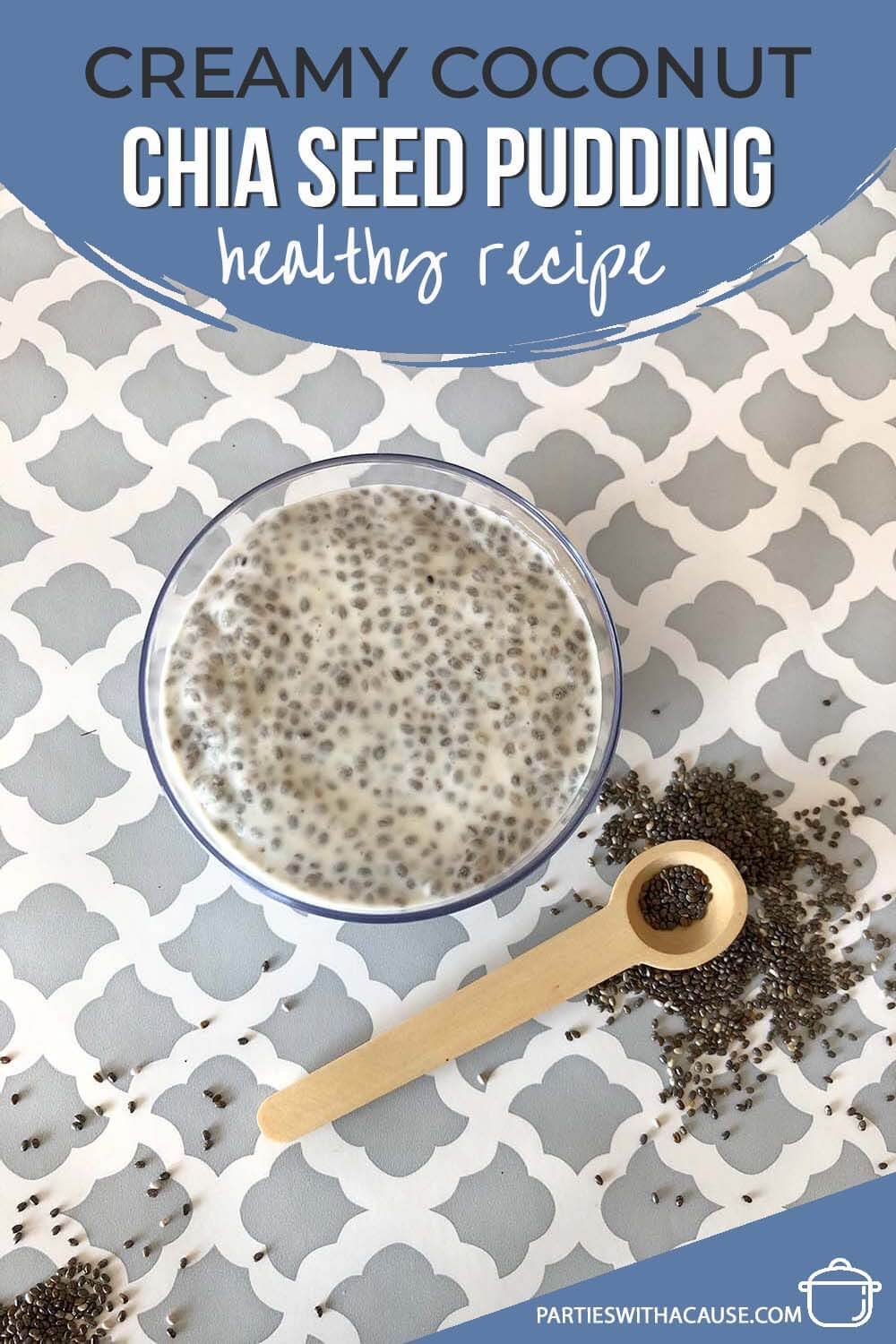 Bowl of chia pudding recipe a healthy breakfast