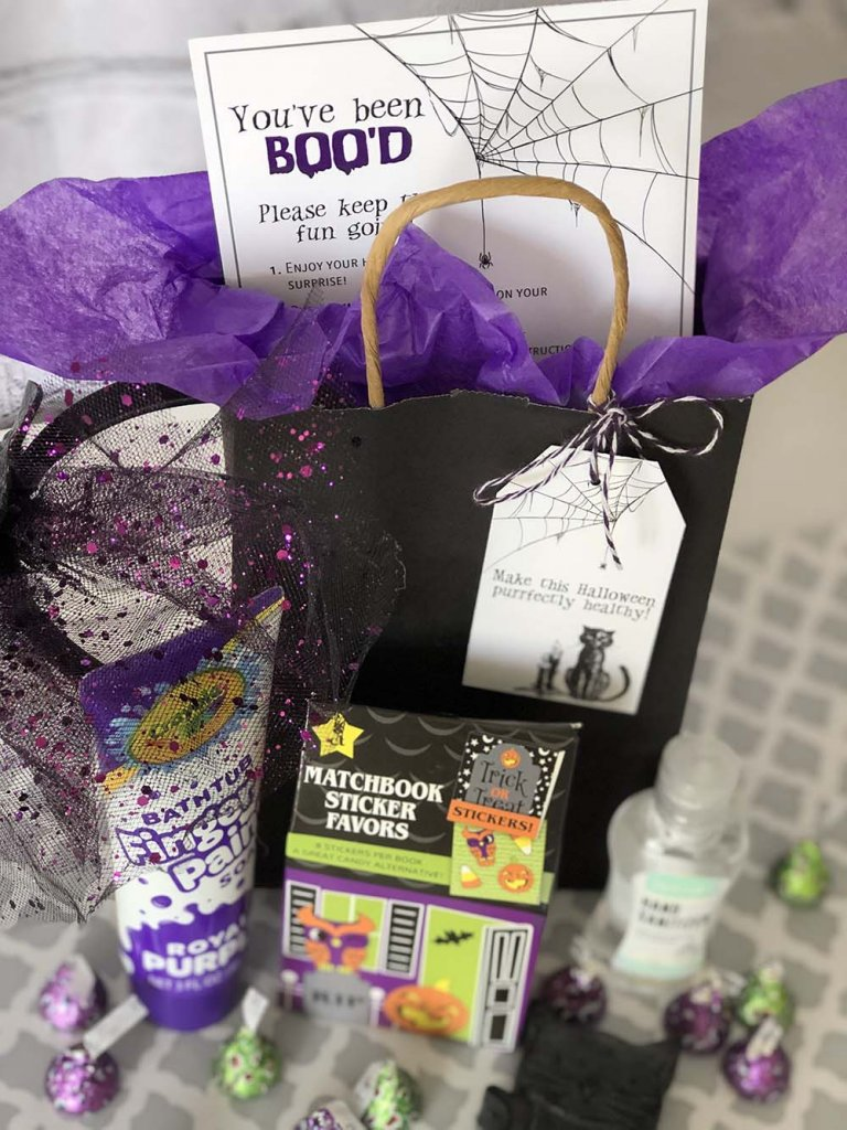 Say BOO to germs Boo Bag Halloween gift ideas for neighbors