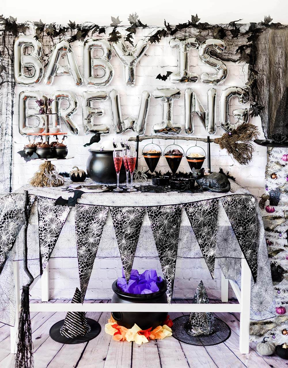 A Baby Is Brewing baby shower table by Salt Lake Party Stylist
