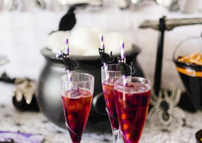Halloween Drink for Kids: Black Cherry Sparklers
