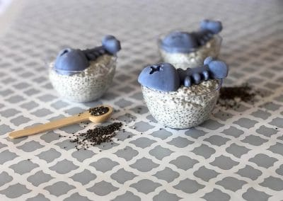 Healthy Snack for Halloween Chia Pudding Recipe