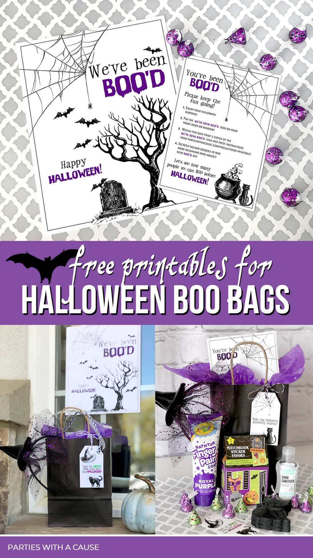 Free printables for Halloween boo game by Salt Lake Party Stylist