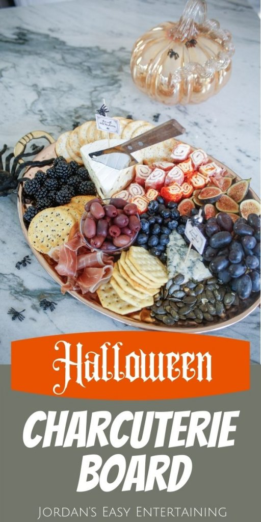 Halloween Charcuterie board healthy snack for halloween