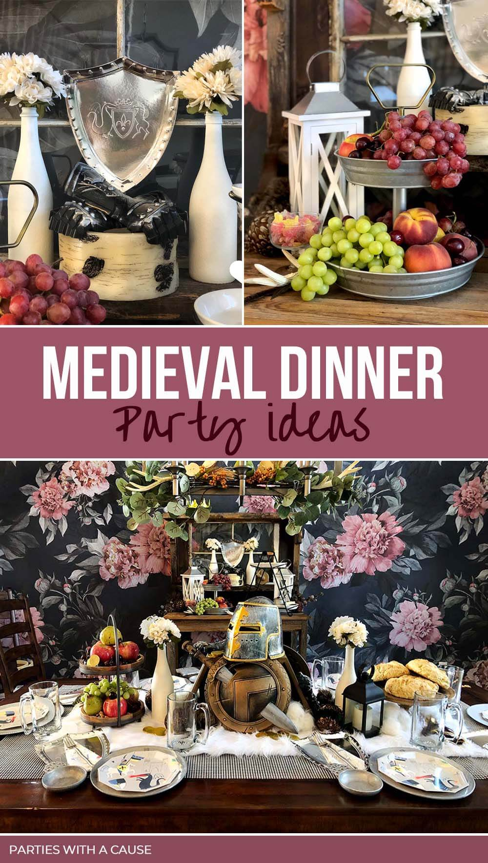 Medieval Dinner party ideas by Salt Lake Party Stylist