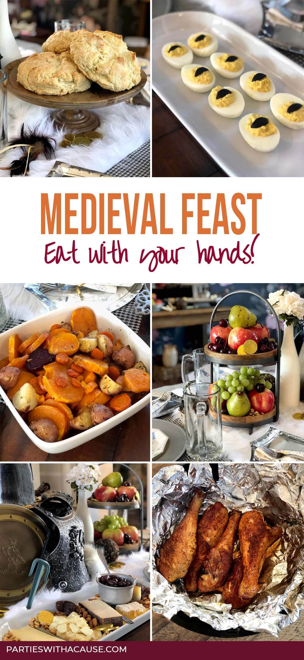 Medieval Feast Menu Items by Salt Lake Party Stylist