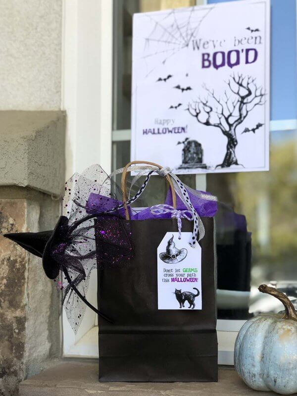 Free Boo Basket printables for Halloween Boo game