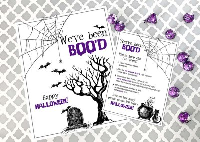 FREE Neighborhood Boo Basket Printable