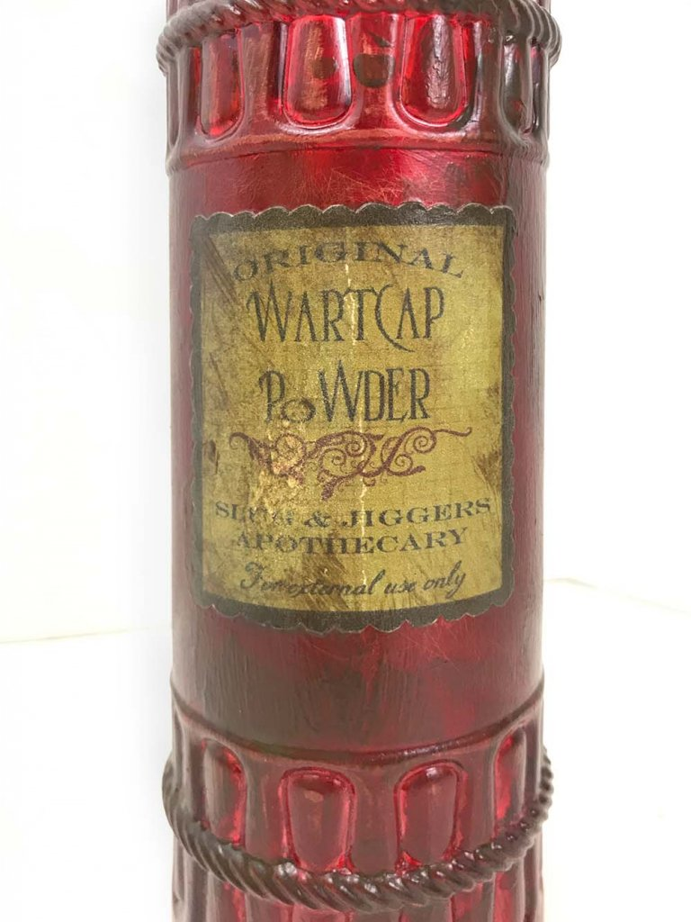 Wartcap powder potion bottle for halloween