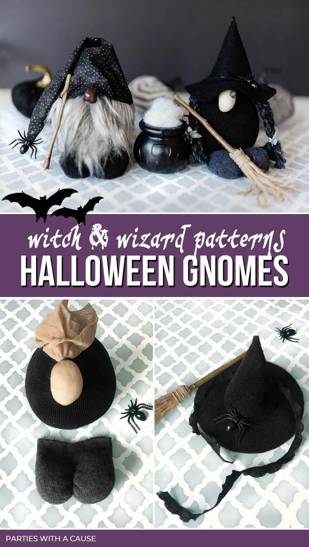 Halloween Gnome DIY Witch and Wizard by Salt Lake Party Stylist