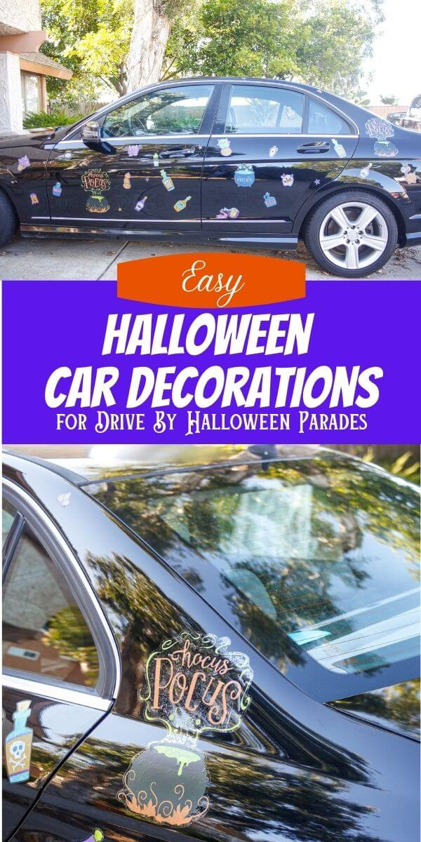 Easy Halloween Car Decorations for Drive by Car Parade