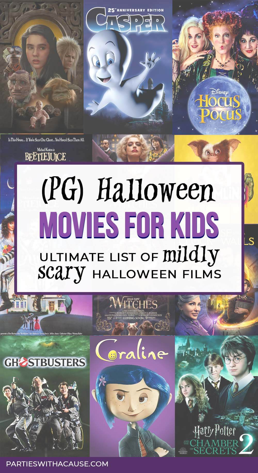 PG rated Halloween movies kids will love by Salt Lake Party Stylist