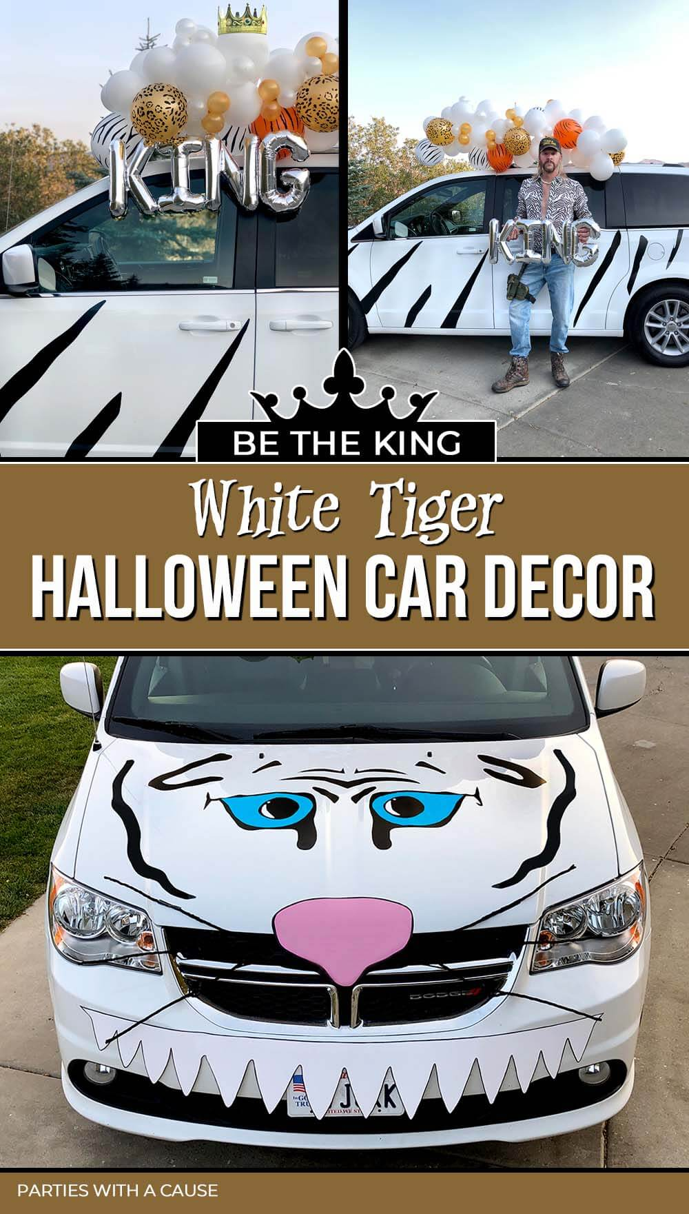 White Tiger Halloween Car Decorations