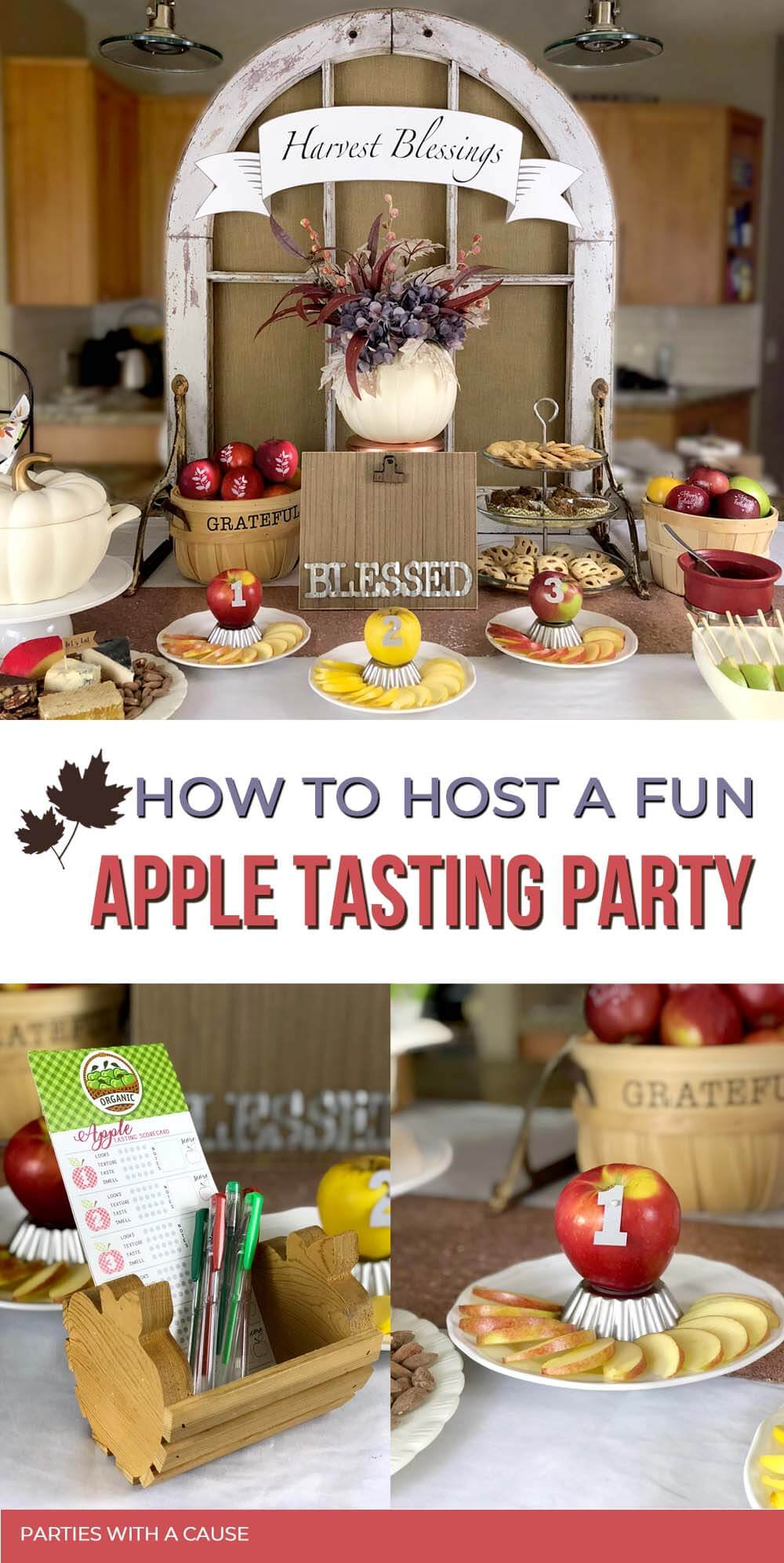 How to host a fun apple tasting party by Salt Lake Party Stylist