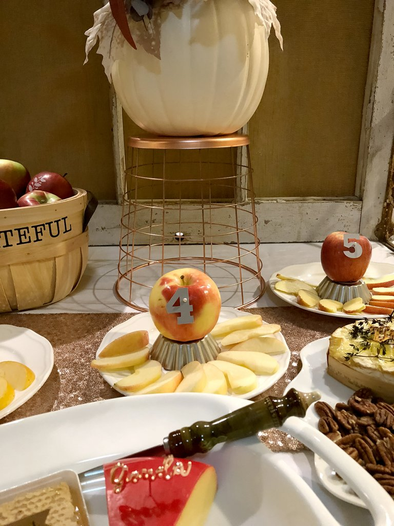Sliced apples for apple tasting fall family activity
