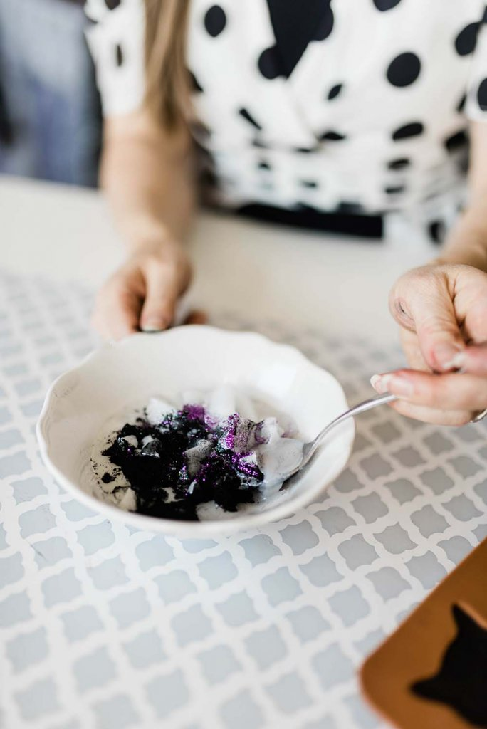 Adding glitter and charcoal to melt and pour soap recipe
