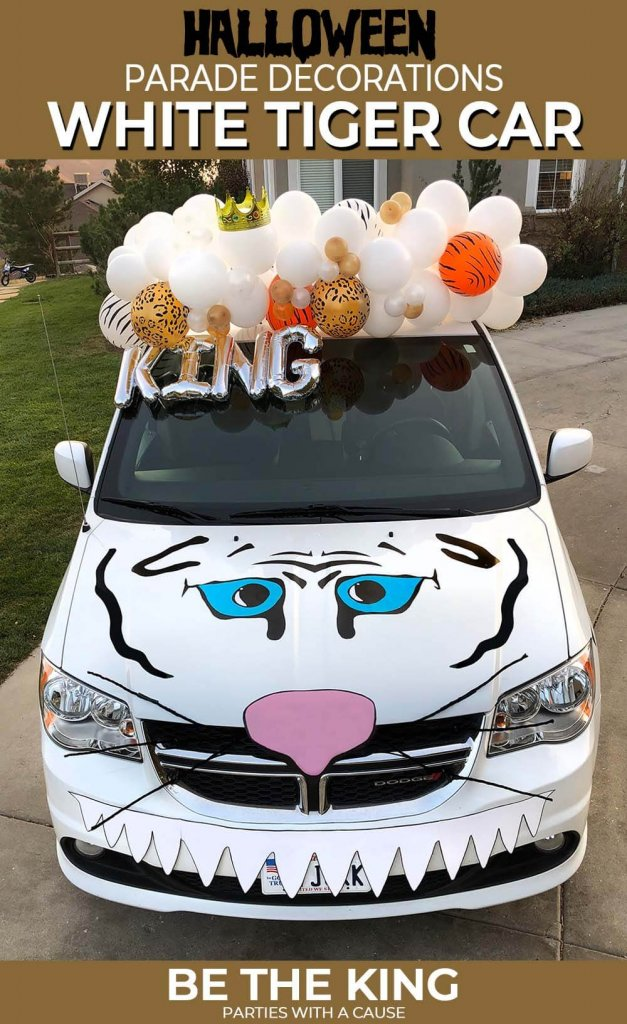 Halloween Parade Decorations White Tiger Car Costume